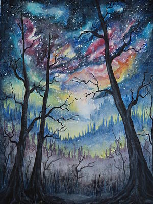 Painting - Star Gazing 2 by Krystyna Spink