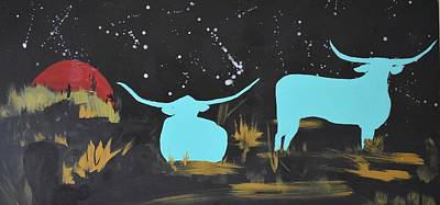 Painting - Star Grazing by Susan Voidets