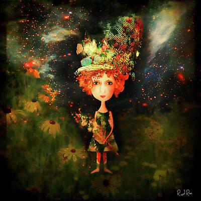 Digital Art - Star Girl by Richard Ricci