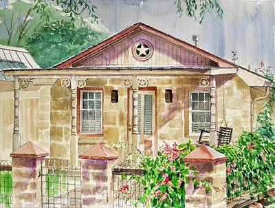 Mike Martin Painting - Star House by Mike Martin