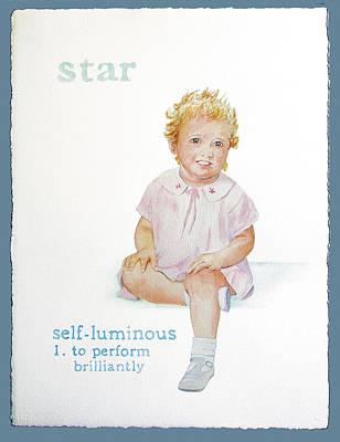 Star Art Print by Janice Crow