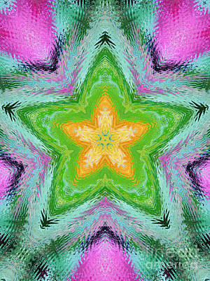 Photograph - Star Kaleidoscope by D Hackett