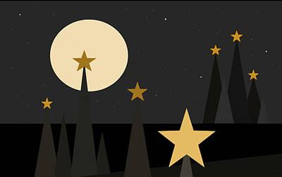 Digital Art - Star Light by Val Arie
