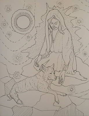 Drawing - Star Maiden by Donelli  DiMaria