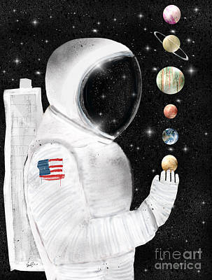 Outer Space Painting - Star Man by Bri B