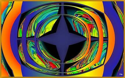 Digital Art - Star Mega Galaxy by Halina Nechyporuk