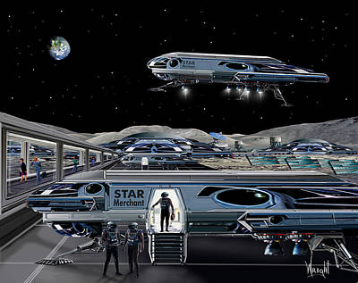 Astronomical Art Digital Art - Star Merchant by Bill Wright