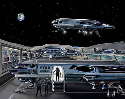 Rocketship Digital Art - Star Merchant by Bill Wright