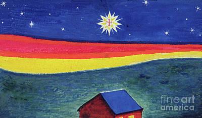 Star Of Bethlehem Painting - Star Of Bethlehem by Eric Gill