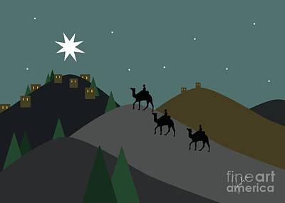 Holyland Digital Art - Star Of Bethlehem by Fady Dow