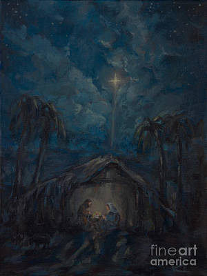 Baby Painting - Star Of Bethlehem - First Christmas by Kim Marshall
