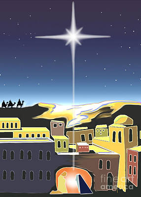 Digital Art - Star Of Bethlehem by Larry Cole