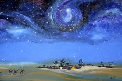 Painting - Star Of Bethlehem by Mr Caution
