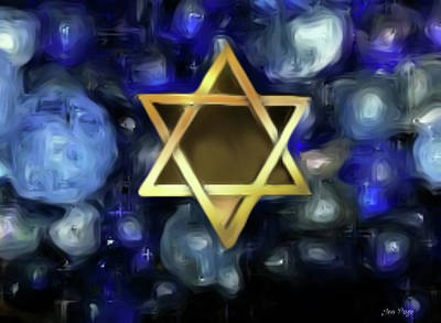 Digital Art - Star Of David by Jennifer Page