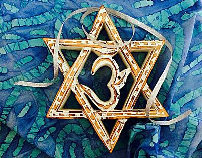 Photograph - Star Of David Om Batik by Ellen Levinson