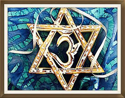 Photograph - Star Of David Om  by Ellen Levinson