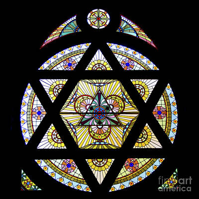 Hexagram Photograph - Star Of David Window by Ann Horn