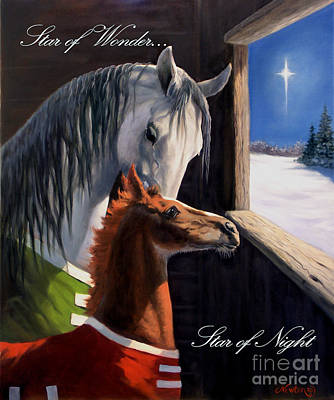 Christmas Cards Painting - Star Of Wonder by Jeanne Newton Schoborg