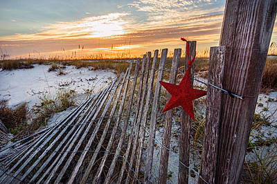 Photograph - Star On Fence  by Michael Thomas