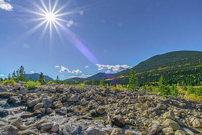 Photograph - Star Over Creek Bed Rocky Mountain National Park Colorado by Paul Vitko