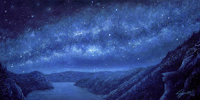 Deep Space Art Painting - Star Path by Lucy West