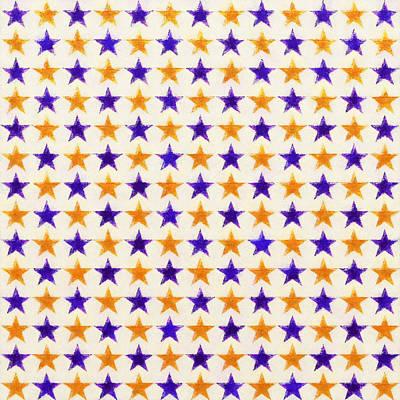Digital Art - Star Pattern by Anton Kalinichev