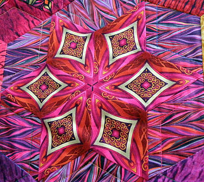 Photograph - Star Quilt 1 Of 3 by Rose  Hill