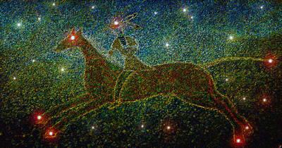 Constellation Digital Art - Star Rider by David Lee Thompson