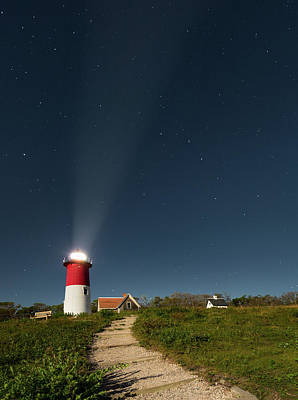 Moonlit Night Photograph - Star Search by Bill Wakeley