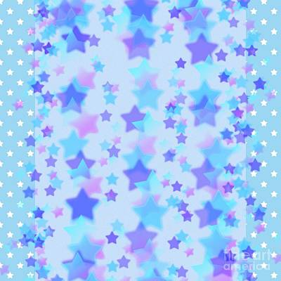 Photograph - Star Shower Design by Joan-Violet Stretch