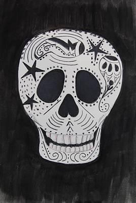Mixed Media - Star Skull by Charla Van Vlack