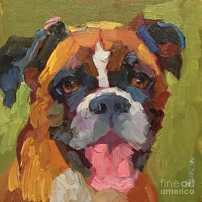 Boxer Painting - Star Smile by Larisa Aukon