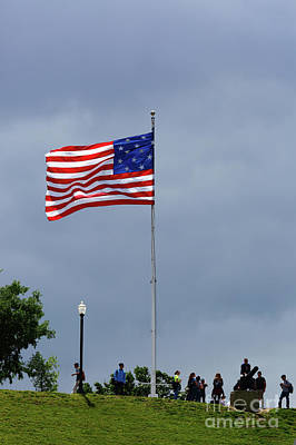 Photograph - Star Spangled Banner Flag On Federal Hill Baltimore by James Brunker