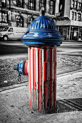 Fire Hydrants Photograph - Star Spangled Banner by John Farnan
