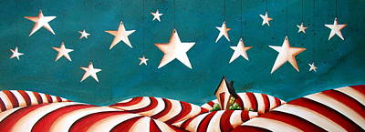 Star Spangled Art Print by Cindy Thornton