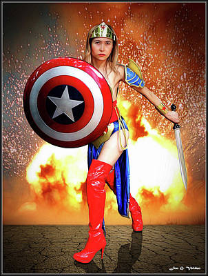 Photograph - Star Spangled  Hero by Jon Volden