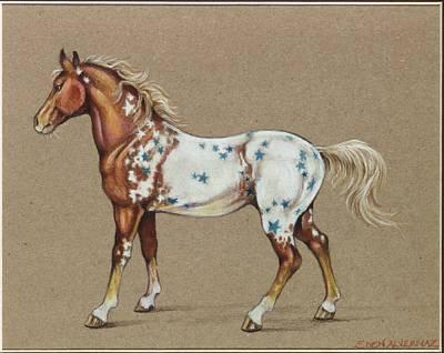 Star Spangled Horse Art Print by Eden Alvernaz