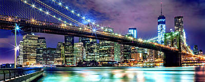 Brooklyn Bridge Photograph - Star Spangled Skyline by Az Jackson