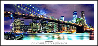 Printed Photograph - Star Spangled Skyline Poster Print by Az Jackson