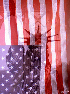 Photograph - Star Sprangled Liberty Collage by Peter Potter