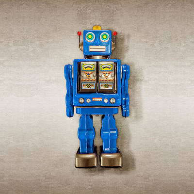 Photograph - Star Strider Robot Blue by YoPedro