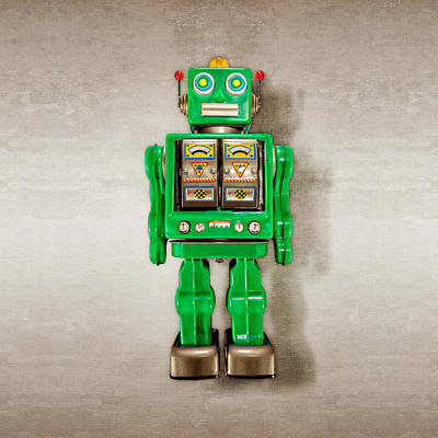 Photograph - Star Strider Robot Green by YoPedro