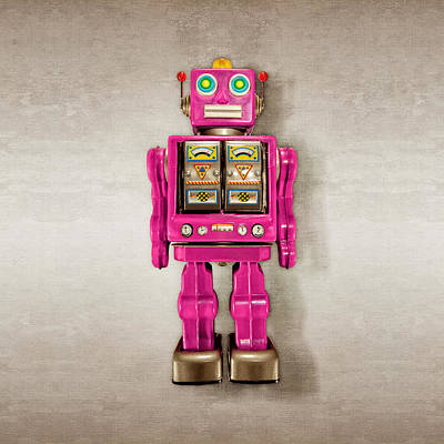 Photograph - Star Strider Robot Pink by YoPedro