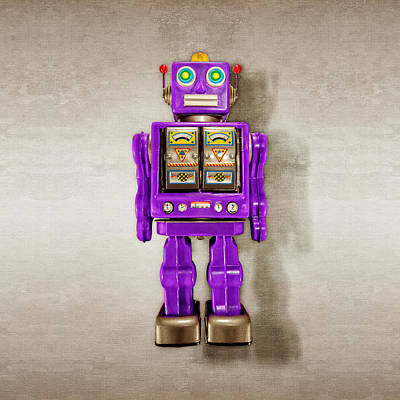 Photograph - Star Strider Robot Purple by YoPedro