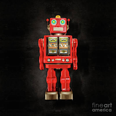 Photograph - Star Strider Robot Red On Black by YoPedro