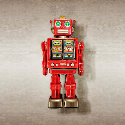 Photograph - Star Strider Robot Red by YoPedro