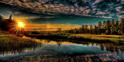 Photograph - Star Sunset On The River by David Patterson