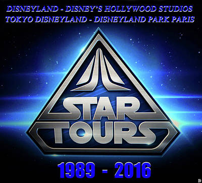 Photograph - Star Tours Remembrance by David Lee Thompson