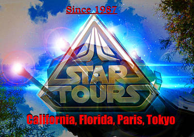 Mixed Media - Star Tours Since 1987 by David Lee Thompson