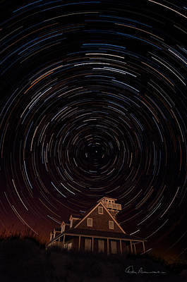 Dan Beauvais Royalty-Free and Rights-Managed Images - Star Trails 1634 by Dan Beauvais